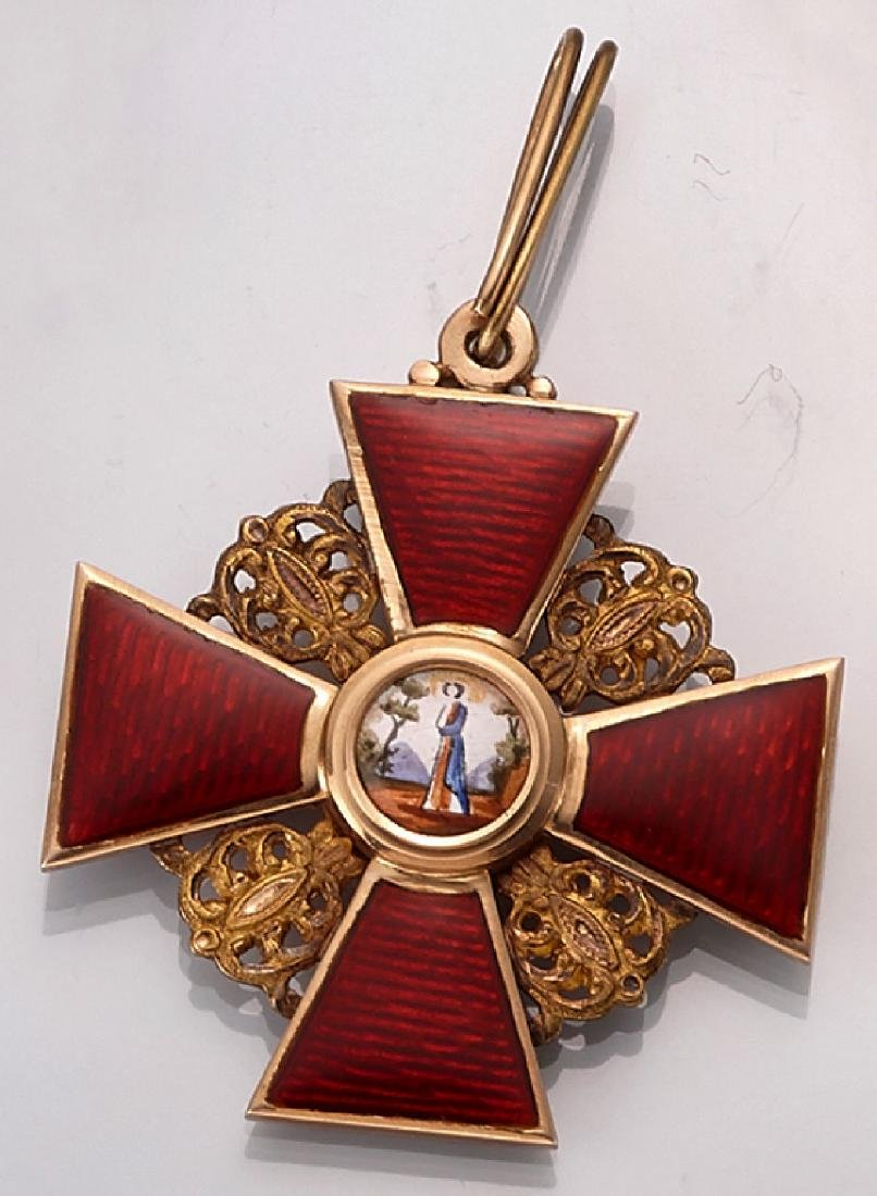 Medal with enamel, russ. order of merit approx. 1860