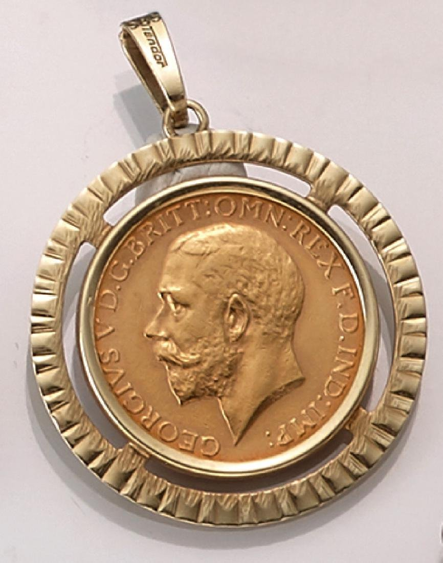Coin pendant, Sovereign, Great Britain, 1911