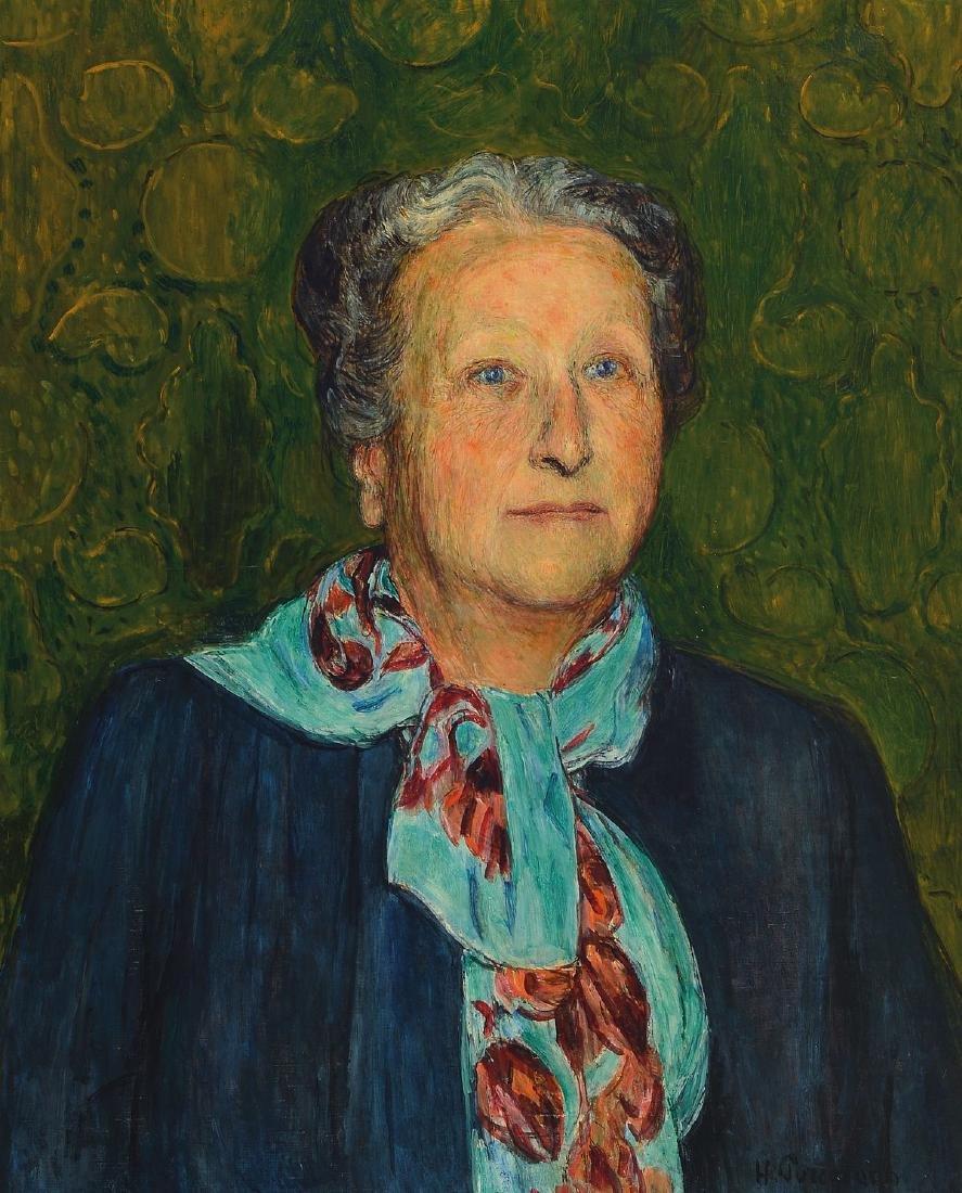 Hans Purrmann, 1880 Speyer-1966 Basel, portrait of