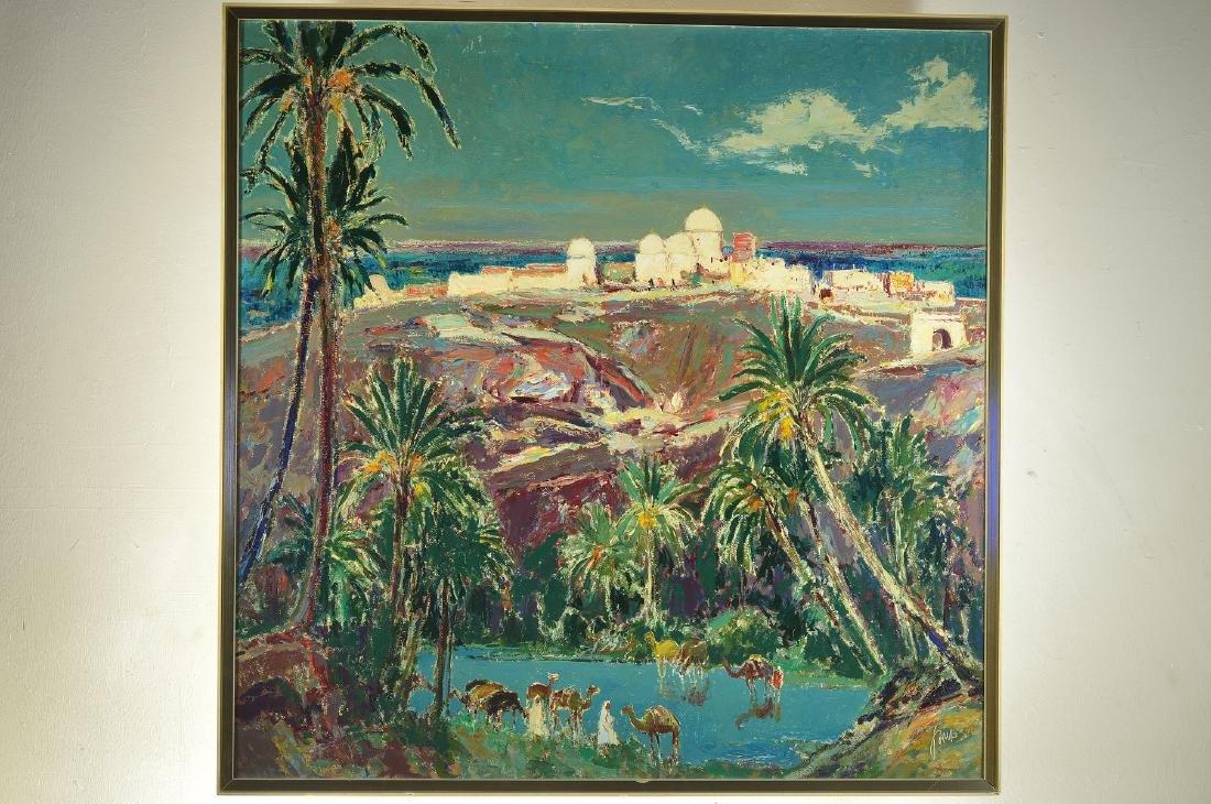 Karl Graf, 1902-1986 Speyer, Oasis in Tunisia,oil / - 4