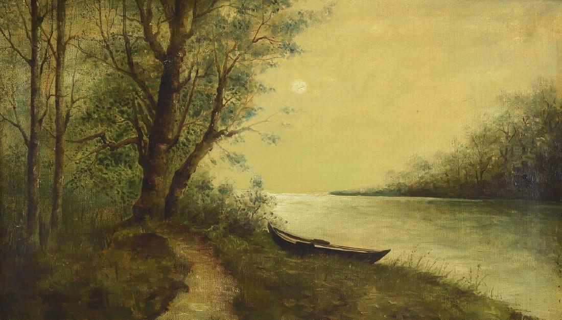 Unidentified artist, german, around 1900, fullmoon over
