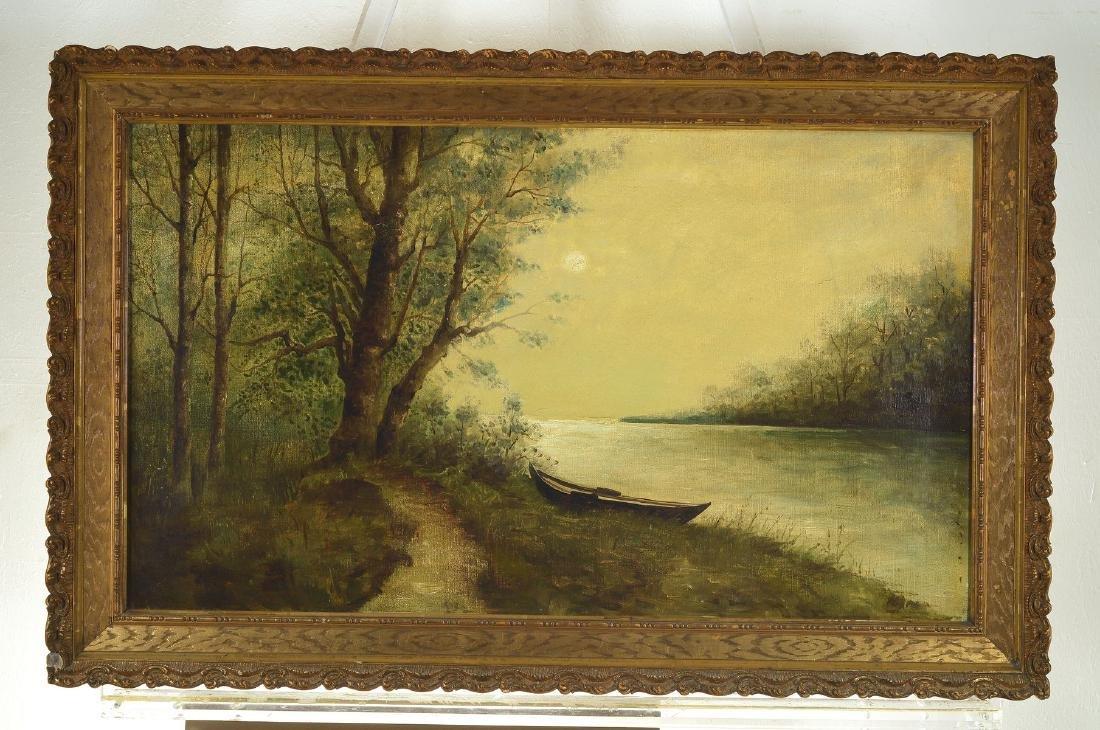 Unidentified artist, german, around 1900, fullmoon over - 3