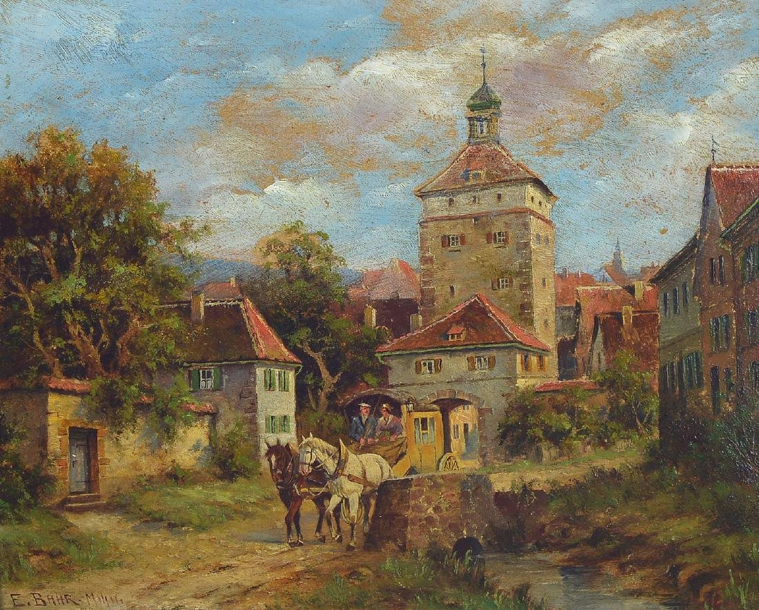 Erich Bahr, Munich Genre painter, around