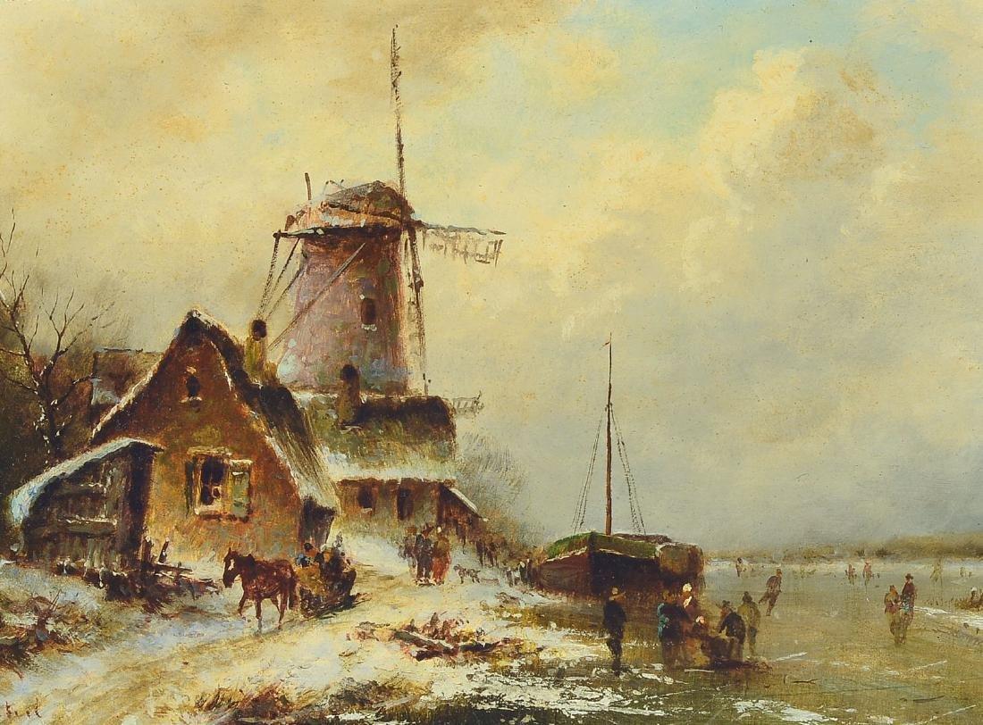 Jakob van Steel, born 1933 Delft, dutch winterlandscape