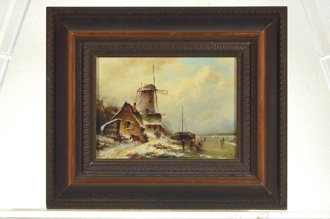 Jakob van Steel, born 1933 Delft, dutch winterlandscape - 4