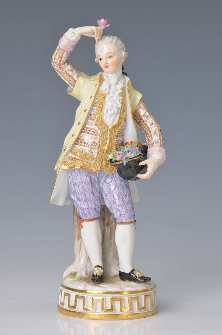 figurine, Meissen, around 1890, , gentleman with