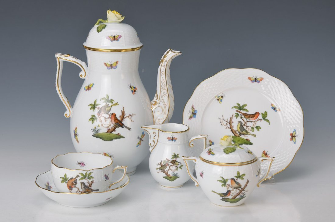 coffee set for 6 people, Herend Hungary, 20th c., Model