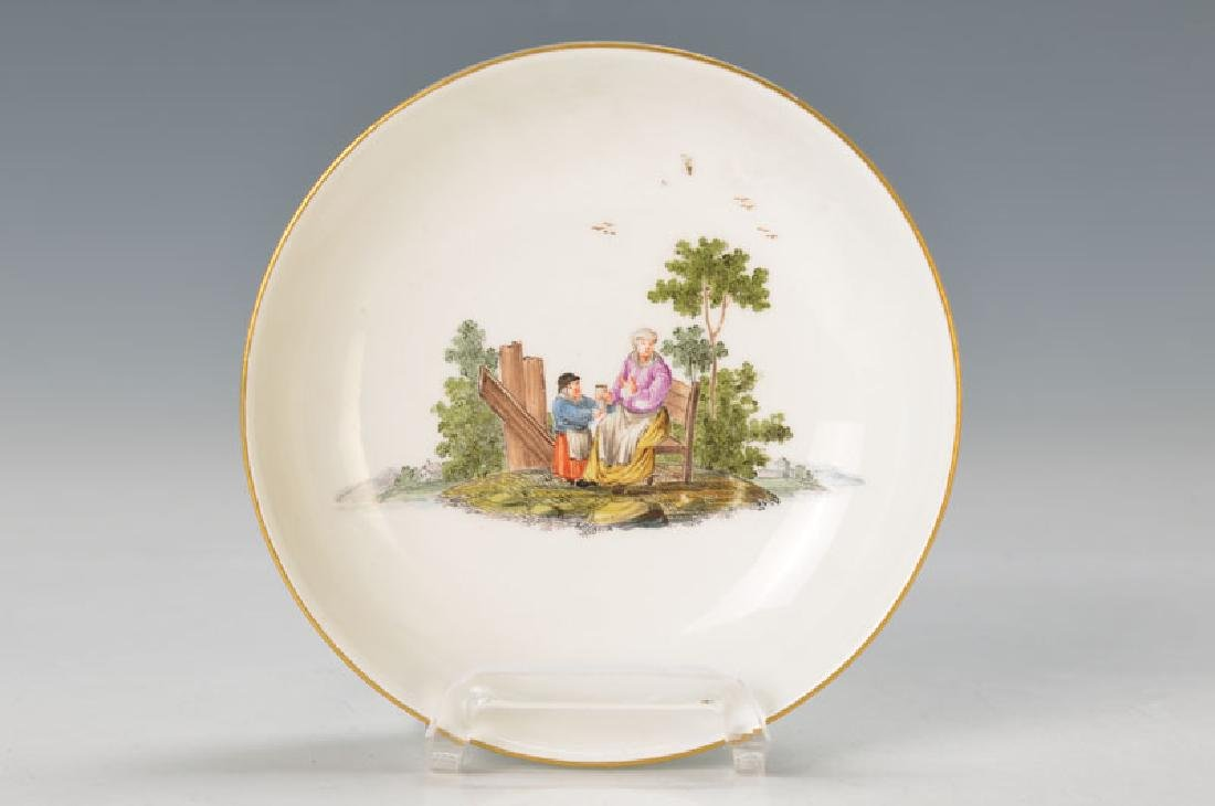 Small bowl or saucer, Meissen, around 1730-40,peasant