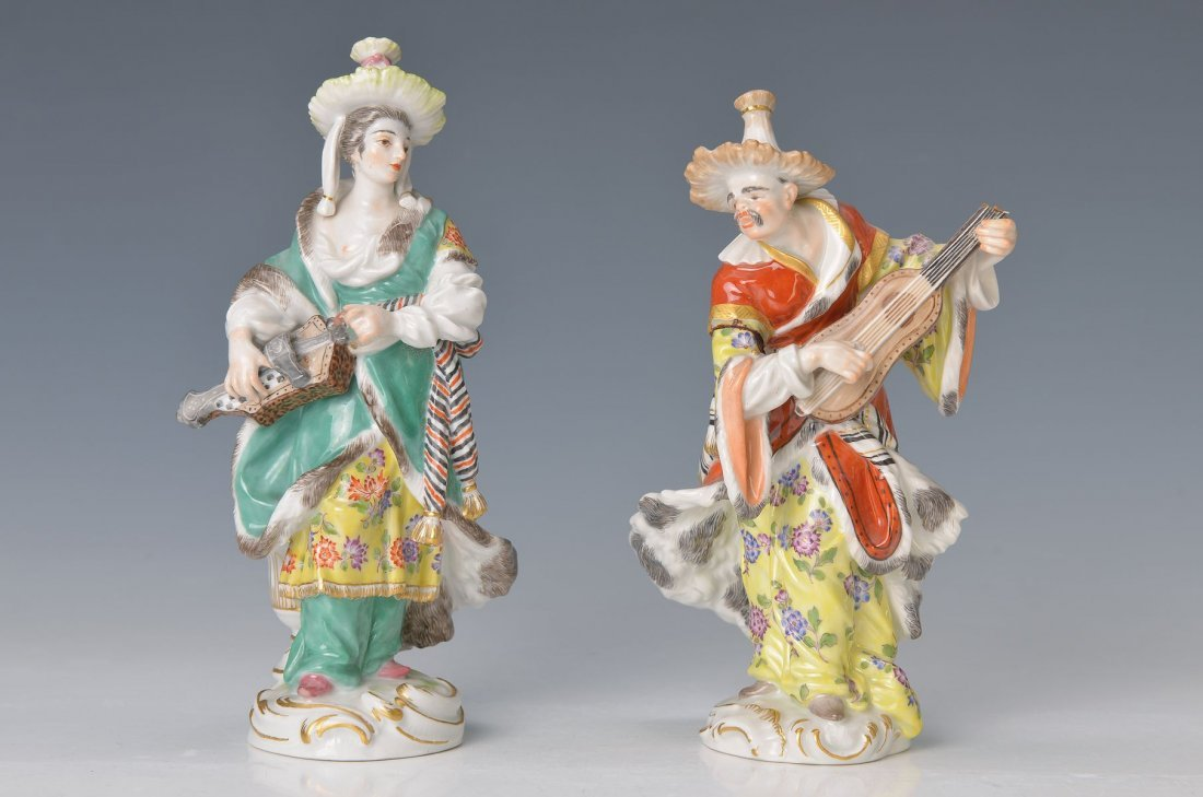 pair of figurines, Malabar couple of Meissen, Middle of