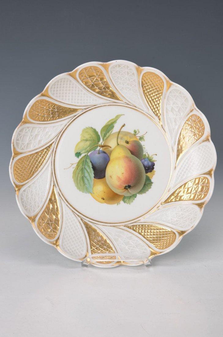 fruit plate, Meissen, around 1870/80, fruit still life
