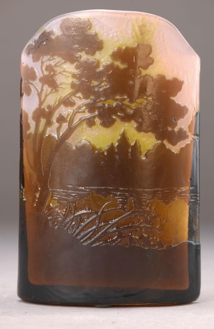 vase, Emile Gallé, around 1900, colorless glass with