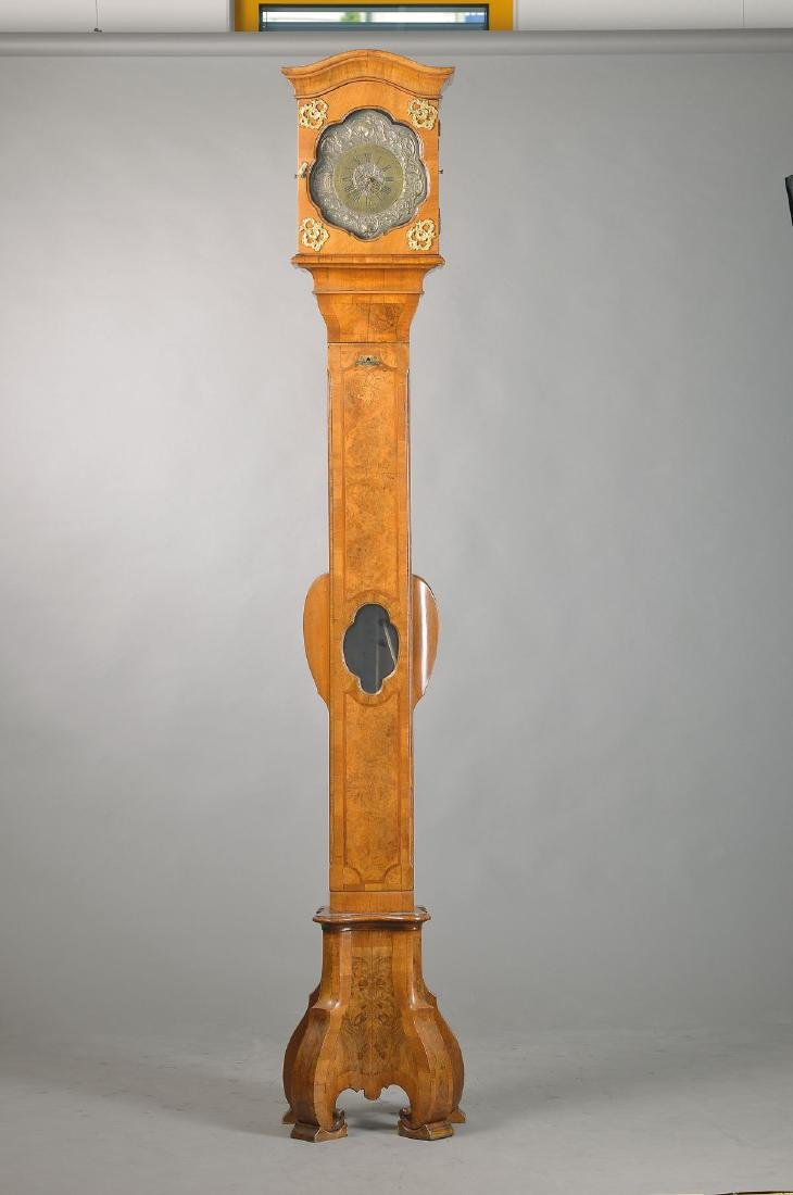 elegant longcase clock, Baroque, area Bamberg,around