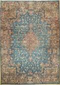 Sky Blue Kirman-Lawer Carpet,