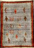 Gabbeh Rug (Salt & Pepper Pattern),