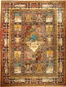 Rare Large Tabriz 'Dragon-Garden' Carpet,