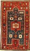 Rare Fachralo Kazak Prayer Rug