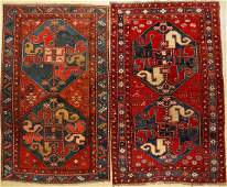 (2 Lots) 2x Chondzoresk Kazak Rugs (Cloudband Kazaks),
