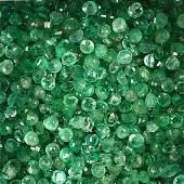 Lot loose emeralds