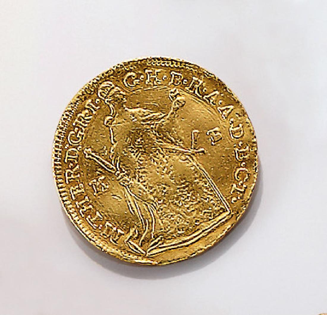 Gold coin, 1 Guilder, 1761