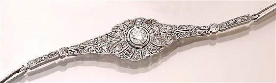 18 kt Art-Deco bracelet with diamonds