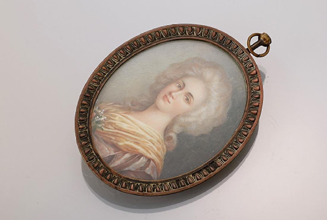 Miniature painting, german approx. 1870s
