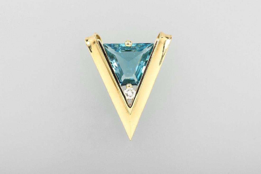 18 kt gold CAPRICE pendant with topaz and brilliant