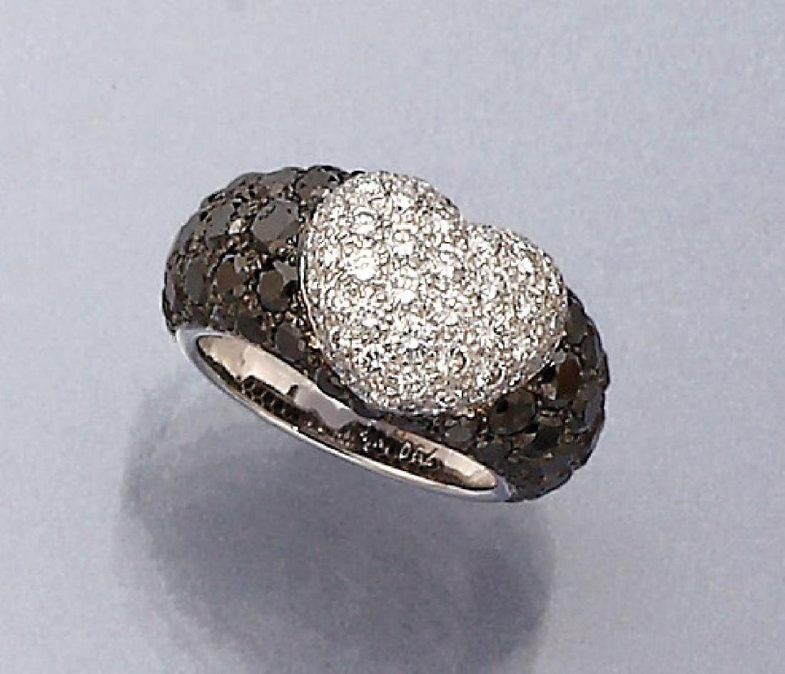 18 kt gold CHOPARD ring 'heart' with diamonds