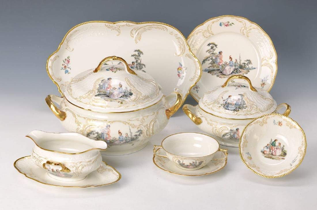 Dinner set for 12 people, Rosenthal, Classic Rose,