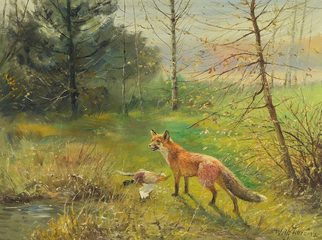 Willi Lorenz, 1901 Cologne - 1981, animal and landscape