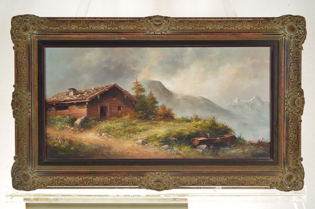 Heinz Schölnhammer, b. 1940 Vienna, hut in themountains - 3