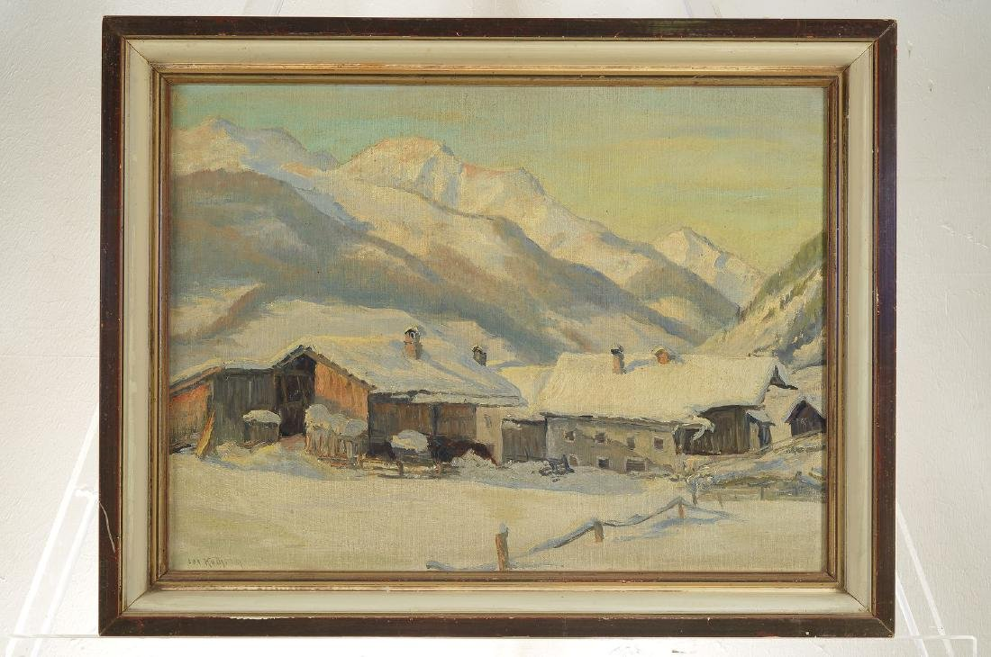 Josef Koch, Munich School 1930s, winter landscape in - 3