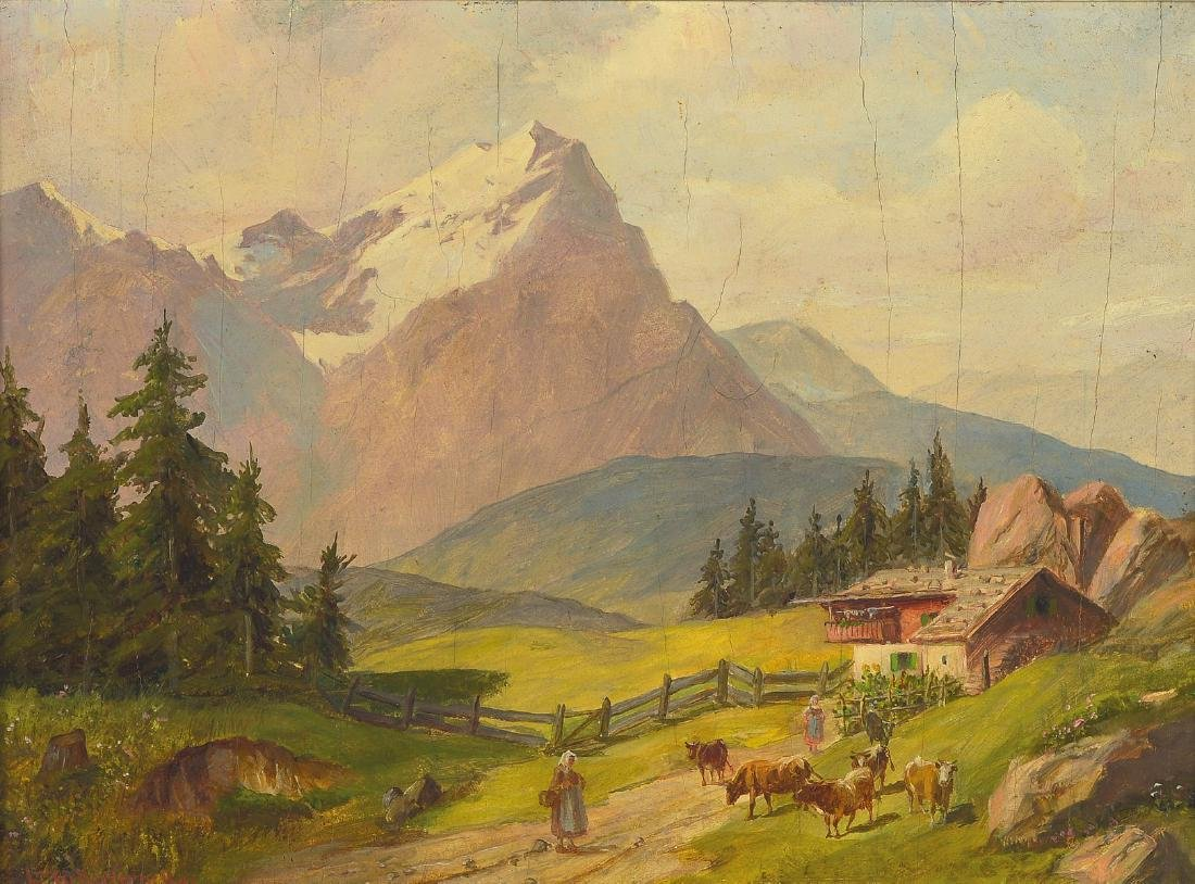 Ludwig Mueller Cornelius, 1864 Munich 1946, cows and