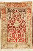Kaisery silk with metal rug, Turkey, approx. 50 years