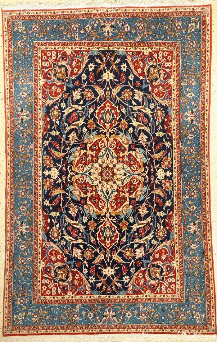 Esfahan fine Rug, Persia, around 1940, wool onsilk, c.
