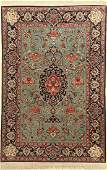 Esfahan fine Rug, Persia, approx. 40 years, wool with