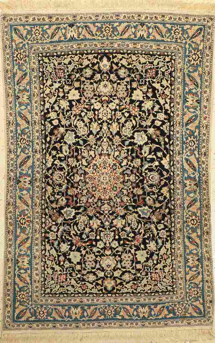 Nain 'Tudeschk' old fine Rug, Persia, around 1950, wool