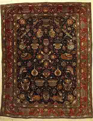 Kashmar old Carpet Azeri approx 40 years wool on