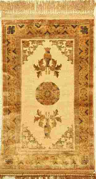 China silk Rug approx 60 years pure naturalsilk