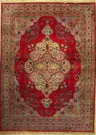 Yazd fine Carpet Persia around 1940 wool oncotton