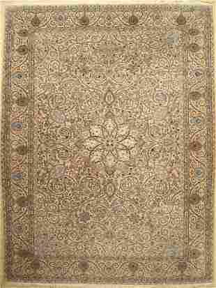 Nain silk background Carpet Persia around 1960