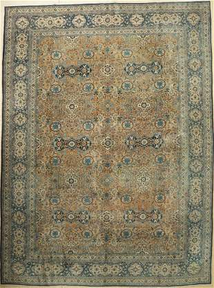 Tabriz old Carpet Persia around 1920 wool about 412