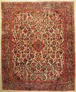 Sarogh old Carpet Persia approx 60 years wool on