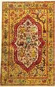 Tabriz silk fine Rug, Persia, around 1950, pure natural