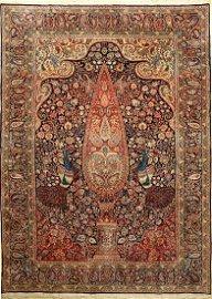 Kerman Laver (Part-Silk) Carpet, Persia, approx. 40