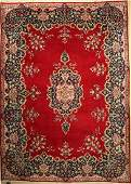 Kerman old Carpet Persia approx 50 years wool on