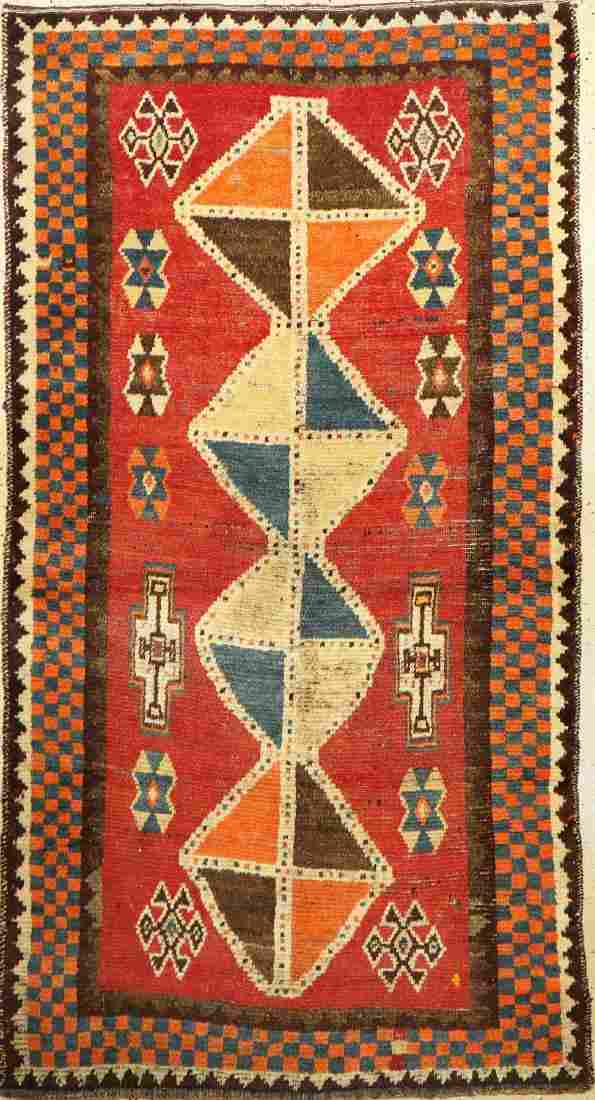 Gaschgai Gabbeh old Rug, Persia, around 1930, wool on