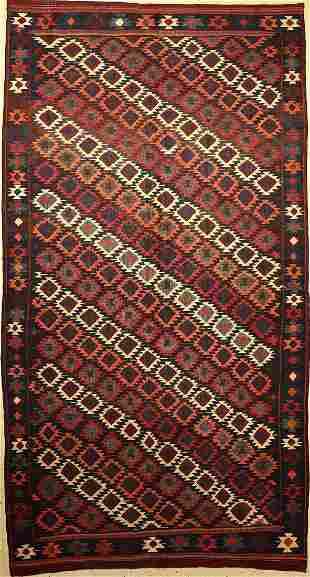 Veramin kilim old Persia around 1930 wool on wool