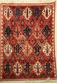 Bachtiar Gabbeh old Carpet, Persia, around 1940, wool