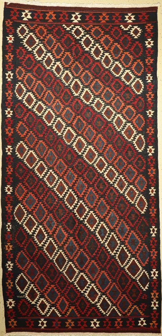 Veramin kilim old, Persia, around 1940, wool on wool