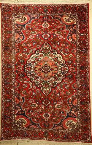 Bachtiar old Carpet Persia approx 50 yearswool on